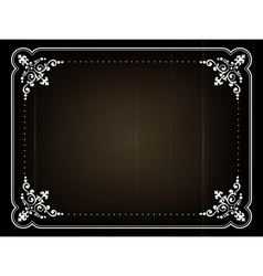 Old movie frame vector image