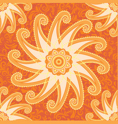 Orange decorative pattern vector