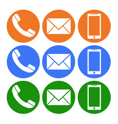 phone sms message telephone icon flat vector image