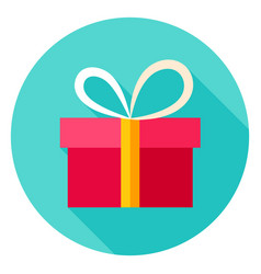 Present box circle icon vector