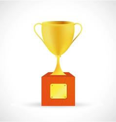 Prize cup cartoon vector image vector image