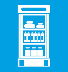 Products in the supermarket refrigerator icon vector