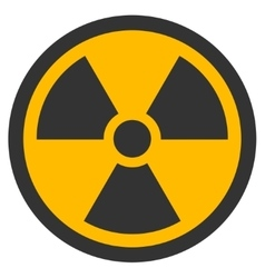 Radioactive flat icon vector