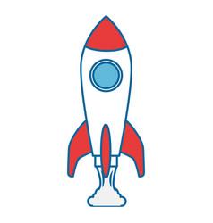 rocket spaceship symbol vector image vector image