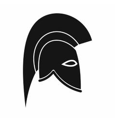 Roman helmet icon simple style vector image vector image