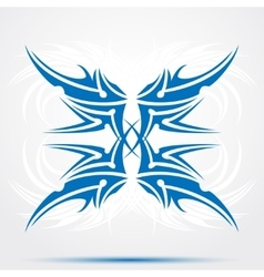 Sharp blue tribal tattoo vector image vector image