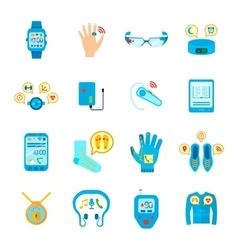 Smart technology icons set vector