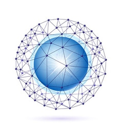 Sphere connected vector image