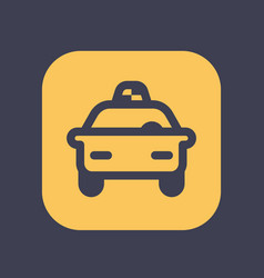 taxi icon in linear style vector image