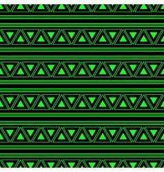Triangle Aztec Green Neon Background vector image