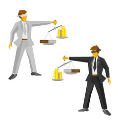 Two man with balance legal concept vector