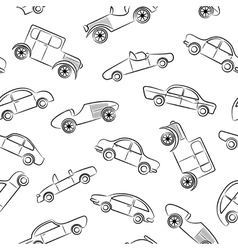 Vintage cars pattern vector