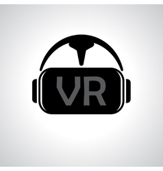 Virtual reality glasses background vector