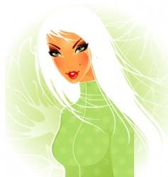women nature vector image