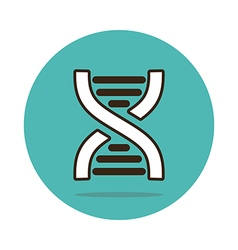Dna flat icon medical vector