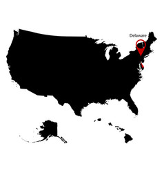 Map of the us state delawar vector