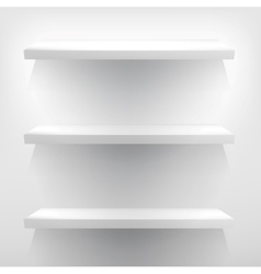 White shelves with light  eps10 vector