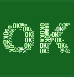 Ok word cloud vector