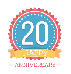20 years anniversary emblem vector image vector image