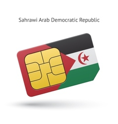 Sahrawi arab democratic republic phone sim card vector