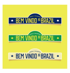 Bright labels - welcome to brazil vector