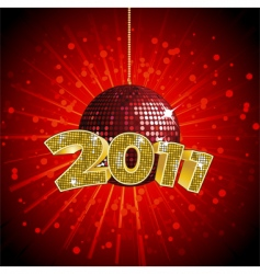 2011 disco ball vector image