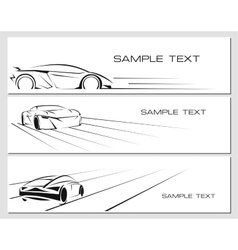 Car banners set vector