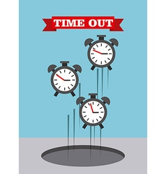 Time up design vector