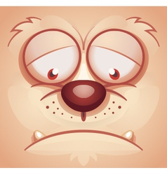 Sad animal face vector