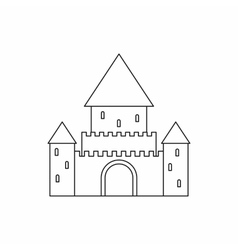 Chillon castle switzerland icon outline style vector