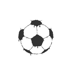 Art soccer ball vector