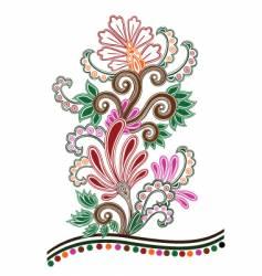 batik floral vector image vector image