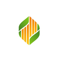 Bio ecology leaf abstract medicine logo vector