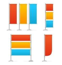 Blanc Banner Flag Mockups Color vector image