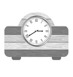 Clock on the table icon image vector