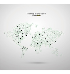 Connected lines constitute the world map vector