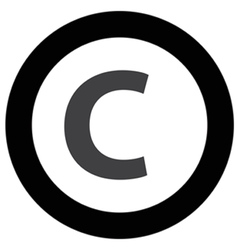 Copyright icon vector
