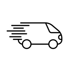 Fast shipping icon delivery truck simbol flat vector