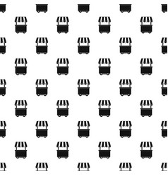 Food trolley with awning pattern vector