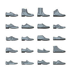 Footwear icon set vector image vector image