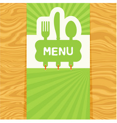 fork spoon and knife tag for text flat design vector image