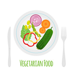 fresh vegetables - bok choy eggplant carrot etc vector image