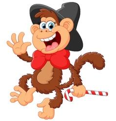 Funny monkey vector image