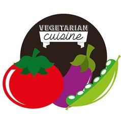 Healthy vegetarian food design vector