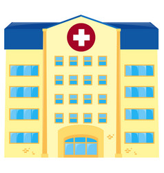 Hospital building on white background vector