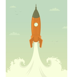 Launch of space rocket vector image