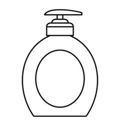 Liquid soap icon outline style vector image vector image