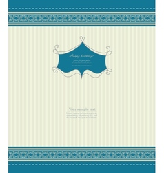 Retro invitation with template vector