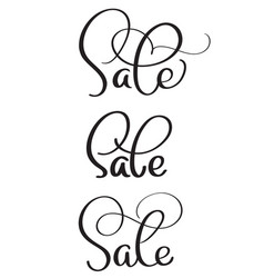 Set of word sale on white background vintage vector