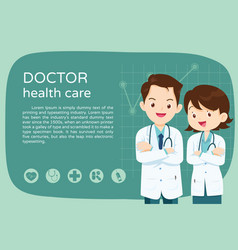 Smart doctor for layout poster vector